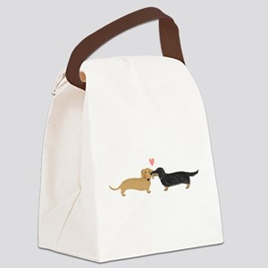 Dachshund Smooch Canvas Lunch Bag